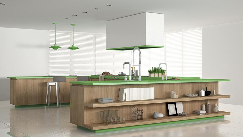 beispiel k che gr n robinwood fertigt ma variable montagefertige m bel f r tischler und. Black Bedroom Furniture Sets. Home Design Ideas